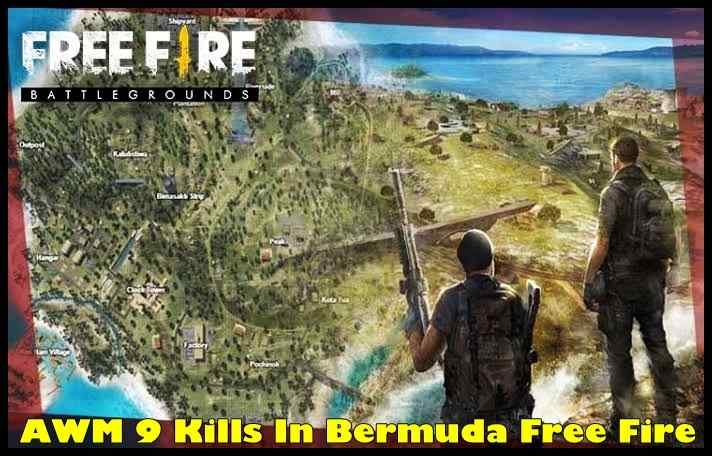 AWM 9 Kills In Bermuda Free Fire