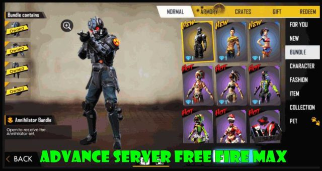 Advance Server Free Fire Max