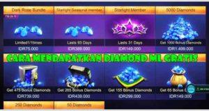 Cara Mendapatkan Diamond ML Gratis Legal