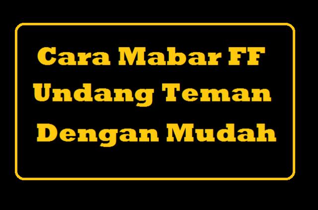 Cara Mabar FF