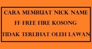Nick FF Kosong