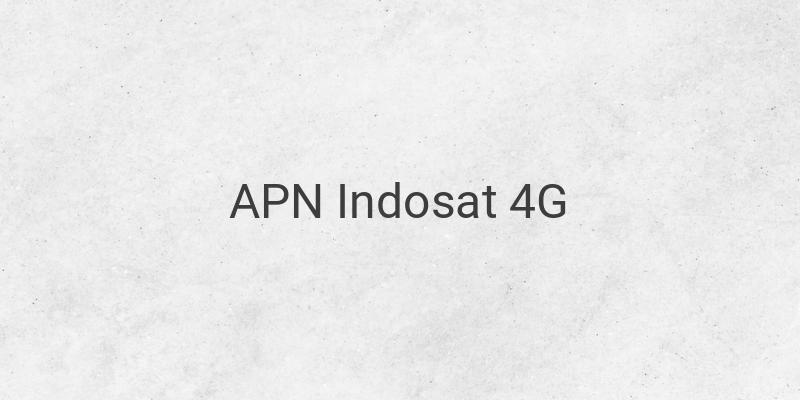 Cek APN Indosat 4G Tercepat